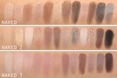 From Head To Toe: Urban Decay Naked 3 Palette Swatches Comparison (Naked, Naked 2, Naked 3)