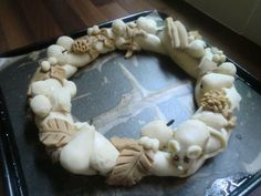 Salt Dough Wreath--I used to make salt dough crafts all the time when I was a kid!