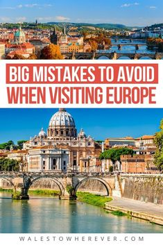 Are you planning a trip to Europe and want to be prepared? Read these 33 biggest Europe travel mistakes before you go and ensure a great trip! Backpacking Europe, Packing For Europe, Europe Travel Guide, Packing Tips For Travel, Travel Guides, Budget Travel, Traveling Europe, Travel Essentials, 2 Week Europe Itinerary