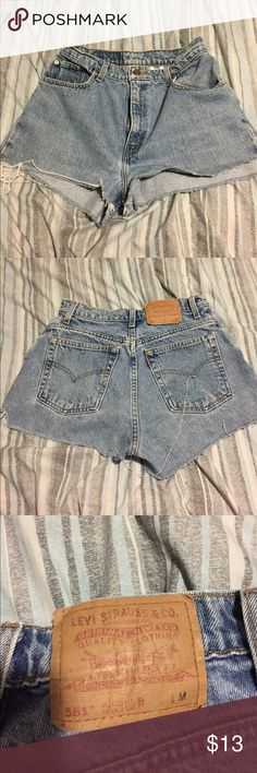 Levi's high waisted shorts Cut a tad uneven. But still wearable and cute. Levi's Shorts Jean Shorts