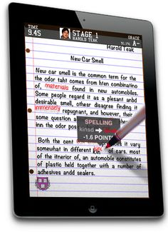 The Grading Game - a fun app for finding typing and grammar errors