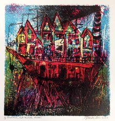 Jan van der Meulen - Het zwarte licht | Staaldruk 50 x 60 cm € 280,- |   Expositie Jan van der Meulen 80 jaar bij Galerie Bax Kunst. Tachtig schilderijen in de Galerie, Kunstencentrum Atrium & Theater Sneek | www.baxkunst.nl | #art #contemporaryart #dutchartist #expo #Sneek #Baxkunst