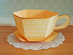 Beautiful Teacup and Saucer - provides LINK to PDF that needs to be purchased to make this project