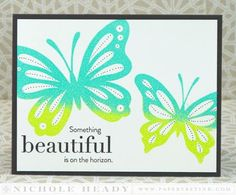 Something Beautiful Card by Nichole Heady for Papertrey Ink (May 2014)