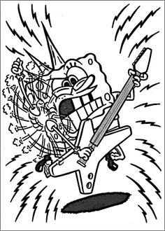 Desenhos para pintar Bob Esponja 36
