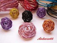 easy & cute wire flowers