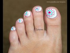 Toe Nail Design for Beginners: Dots in Circles