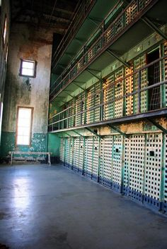 OLD IDAHO STATE PENITENTIARY  Built beginning around 1870, using prison labor. Terrible living conditions caused several riots, leading to its closure in 1973.