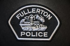 Fullerton Police Patch, Orange County, California (Current 2009 - 3rd Issue)