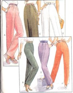 high waisted pants sewing pattern - Google Search