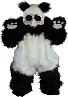 Look out! It's not just a zombie, it's a Zombie Panda! This scary bear costume makes a fun (and scary) Halloween costume for adults. It's also perfect for a zombie costume party! Scary Couples Costumes, Spirit Halloween Costumes, Panda Costumes, Bear Costume, Halloween Party Themes, Halloween Celebration, Mascot Costumes, Baby Halloween, Adult Costumes