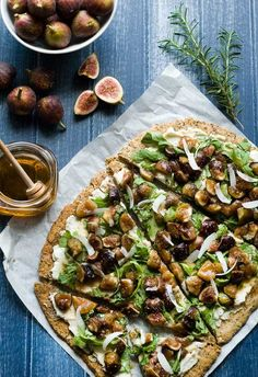 Gluten Free Honey Fig Ricotta Flatbread | Healthy Recipes and Weight Loss Ideas