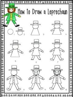 It's just a picture of Simplicity Directed Drawing Leprechaun