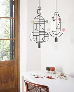 Barcelona design studio Goula/Figuera's collection of Lines & Dots hanging lighting is based on thousands of drawings Design Studio, Deco Design, Lamp Design, Lighting Design, Luxury Lighting, Lighting Ideas, Modern Lighting, Suspended Lighting, Light Fittings