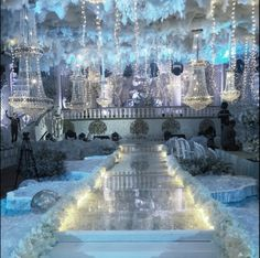 Winter wedding fake snow indoors for the first dance weddings sion wedding decor junglespirit Images