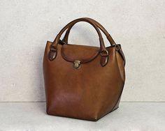 Leather BagHandmadeTote BagShoulder by TaranehShahbazi on Etsy