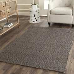 Shop for Safavieh Casual Natural Fiber Hand-Woven Doubleweave Sea Grass Grey Rug (3' x 5'). Get free shipping at Overstock.com - Your Online Home Decor Outlet Store! Get 5% in rewards with Club O!
