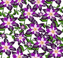 Pocket full of Purple Posies by Maureen Zaharie