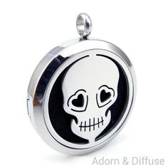 Day of the Dead Diffuser Locket Necklace
