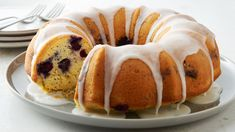 blueberry lemon poppy seed bundt cake