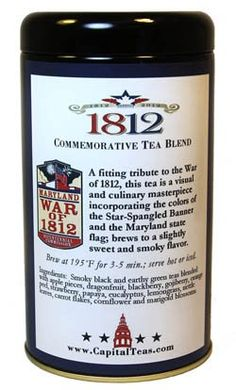 @CapitalTeas 1812 Commemorative #Tea