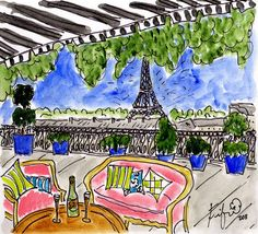 Celebration Balcony in Paris by fififlowers on Etsy