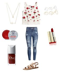 """Teen fashion"" by princessrena on Polyvore featuring Lucky Brand, H&M, Forever 21 and Rosebud Perfume Co."