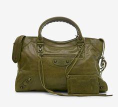 Balenciaga Olive Green Handbag