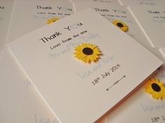 Handmade Personalised Wedding Thank You Cards Pack by ohsopurrfect