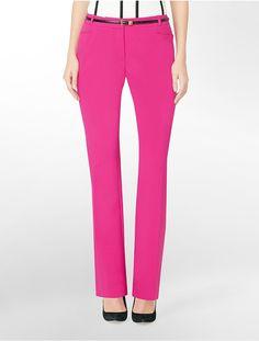 Calvin Klein Essential Boot suit pants in hot pink $64.50 #pants #calvinklein