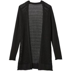 Athleta Women Park Ave Cardigan Sweater Size L (2.017.610 IDR) ❤ liked on Polyvore featuring tops, cardigans, black, layered tops, cardigan top, long summer tops, layering cardigans and athleta