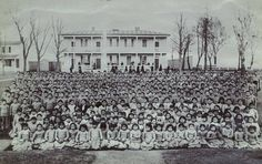 An Indian boarding school refers to one of many schools that were established in the US during late 19th & early 20th centuries to educate Native American children & youths according to Euro-American standards. http://bit.ly/Yt2tAj