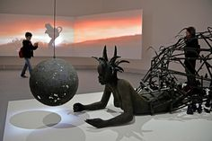 """A Look Inside the 2015 Venice Biennale - The New York Times """"The End of Carrying All"""" by the Kenyan artist Wangechi Mutu."""