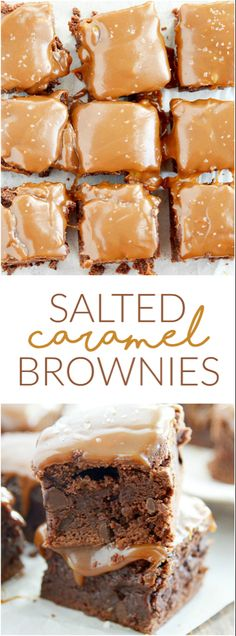 Salted caramel brownies are easier than you think and are so delicious.- Gesalzene Karamell-Brownies sind einfacher als Sie denken und sind so lecker. Salted caramel brownies are easier than you … - Brownie Desserts, Brownie Recipes, Just Desserts, Cookie Recipes, Brownie Ideas, Best Dessert Recipes, Special Recipes, Recipes Dinner, Snacks Recipes