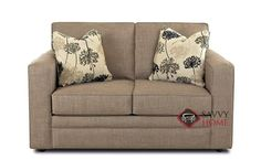 Boston Loveseat by Savvy. Terrific comfort and support in a compact package. Customizable.