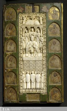 sexycodicology:  Ms. Barth. 181 (Ausst. 67)   Elephant tusk as book decoration: great medieval binding with 3D ivory cutting and gold decora...