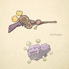 No. 110 - Weezing. #pokemon #weezing #rifle #pokeapon