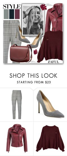 """Oversized Sweater-Zaful"" by ucetmal-1 ❤ liked on Polyvore featuring Alexander Wang, Manolo Blahnik and Niki Taylor"