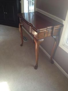 Queen Anne Convertible Folding Table go from end table to card table! $84 Lisle