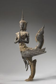EMERALD CITIES: ARTS OF SIAM & BURMA, 1775 - 1950   Mythical bird-man, approx. 1775-1850, Central Thailand