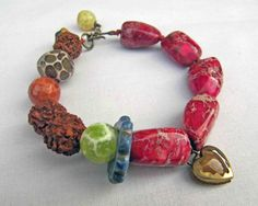 Hothouse fire  handmade bracelet beaded bracelet by somethingtodo, £28.00