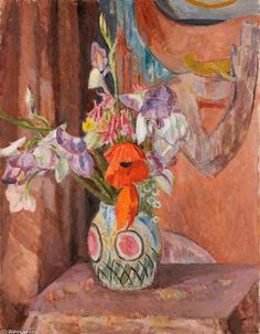 'Flowers' by Vanessa Bell (1879-1961, United Kingdom)
