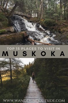 Ever wonder where to go to while roaming the Muskoka region? Here is a list of lookout points, waterfall spots and hiking trails waiting for you to explore. Ontario Travel, Ontario Camping, Places To Travel, Places To Go, Ontario Parks, Canadian Travel, Canadian Rockies, Visit Canada, Hiking Trails