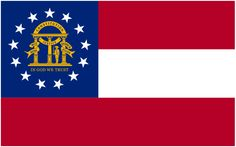 "Illustration of the state flag of Georgia. Source: Wikimedia Commons. Read more on the GenealogyBank blog: ""Georgia Archives: 141 Newspapers for Genealogy Research."" http://blog.genealogybank.com/georgia-archives-141-newspapers-for-genealogy-research.html"
