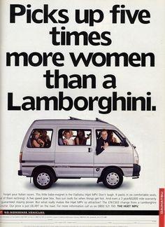 Advertising hilarity.