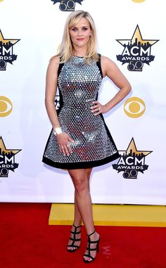 Reese Witherspoon wearing David Koma from 2015 ACM Awards Red Carpet Arrivals | E! Online