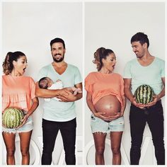 """2,506 Likes, 15 Comments - FitPregnancy (@fitpregnancy) on Instagram: """"Before... and after! #NationalWatermelonDay : @succo13, feat. @enmisstrece"""""""