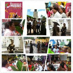 1er Encuentro de MUJERES del Caribe y Latino America, ofrenda floral a MARIA TRINIDAD SANCHEZ Y CAMINATA HACIA EL PALACIO NACIONAL .