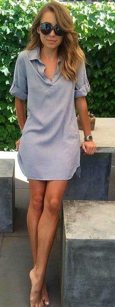 Grey Tunic Dress Source.