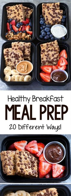 Super healthy breakfast meal prep recipes that are vegan and many can be gluten free health healthy breakfast mealprep vegan glutenfree 74309462588112180 Healthy Breakfast Meal Prep, Easy Healthy Meal Prep, Easy Healthy Recipes, Healthy Breakfasts, Eating Healthy, Healthy Dinner Recipes, Vegan Breakfast, Healthy Meal Prep Lunches, Healthy Desserts